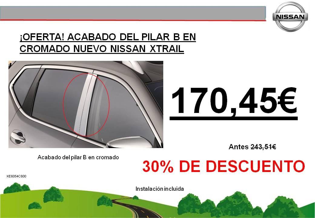 ¡OFERTA! ACABADO DEL PILAR B EN CROMADO NISSAN X-TRAIL T32 - 170,45€