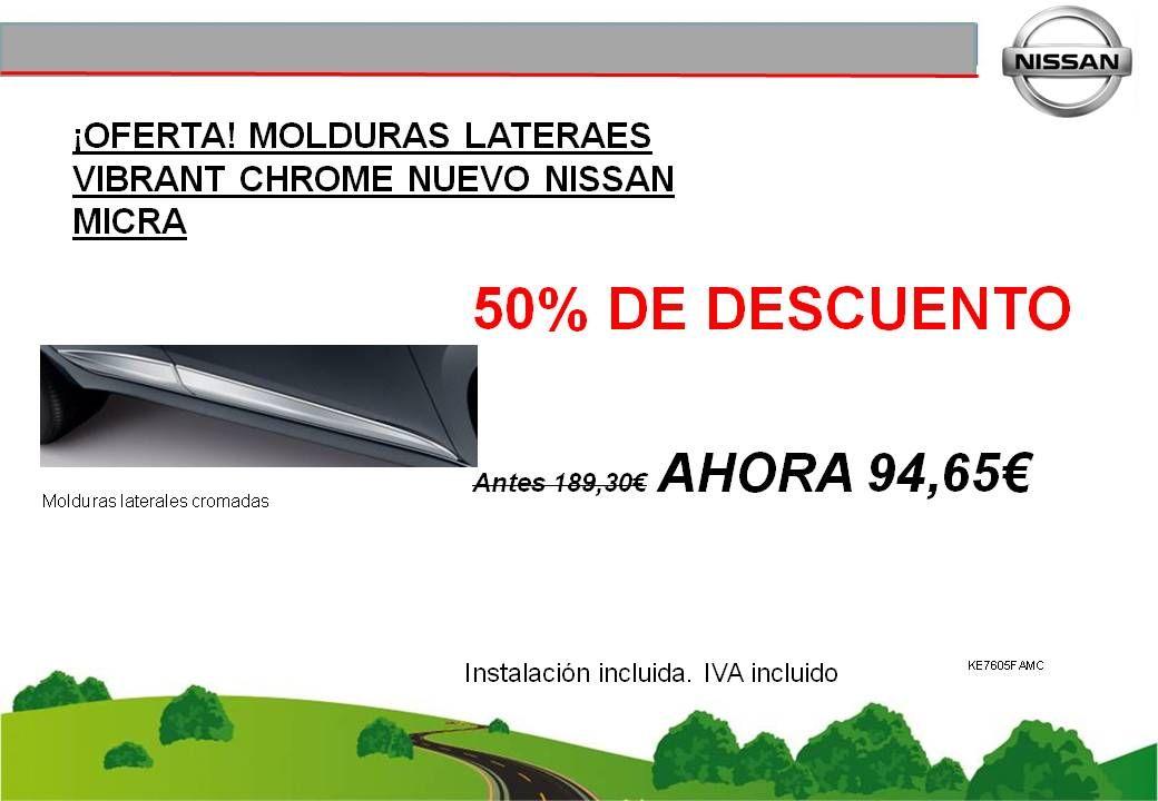 ¡OFERTA! MOLDURAS LATERALES VIBRANT CHROME NUEVO NISSAN MICRA K14 - 94,65€