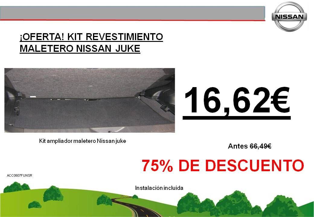 ¡OFERTA! KIT REVESTIMIENTO AMPLIADOR MALETERO NISSAN JUKE - 16,62€