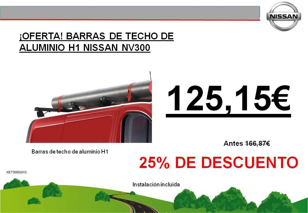 ¡OFERTA! BARRAS DE TECHO DE ALUMINIO H1 NISSAN NV300 - 125,15€