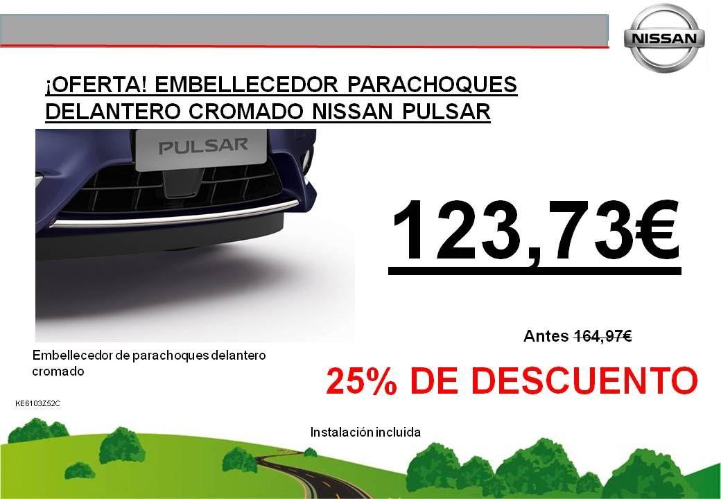 ¡OFERTA! EMBELLECEDOR DE PARACHOQUES DELANTERO EN CROMADO NISSAN PULSAR - 123,73€
