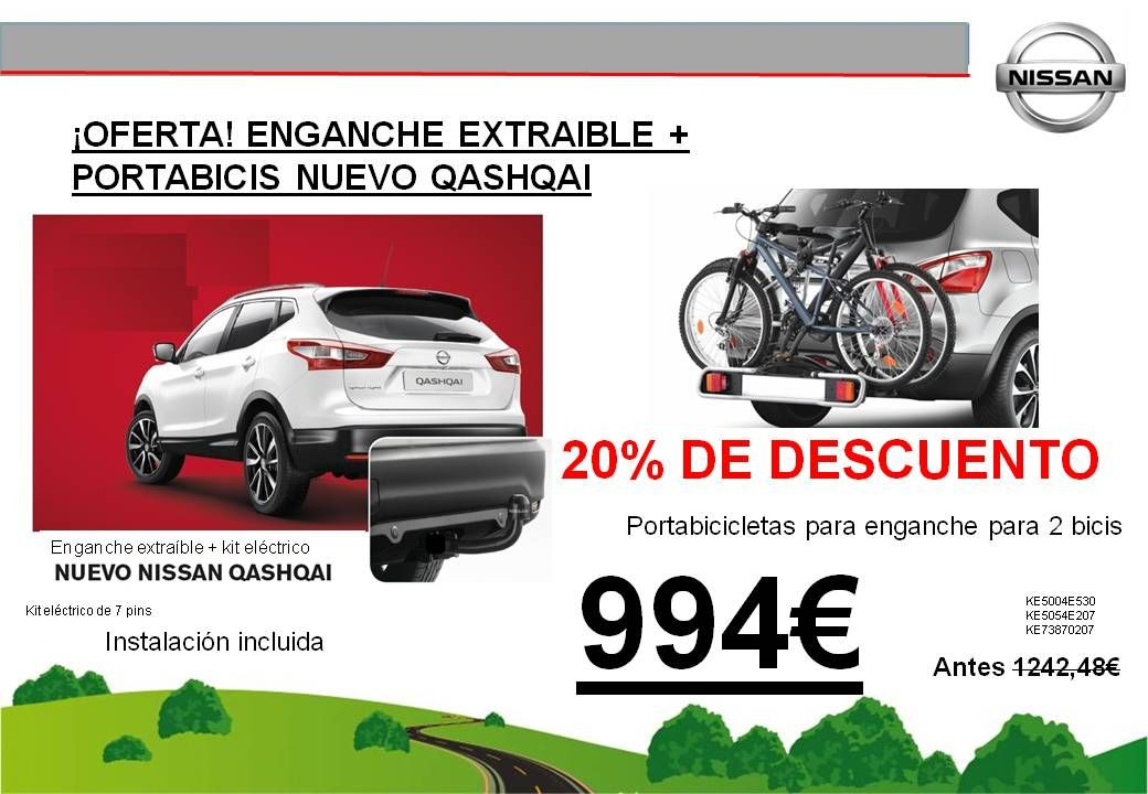 ¡OFERTA! ENGANCHE EXTRAIBLE + PORTABICIS NUEVO QASHQAI - 994€