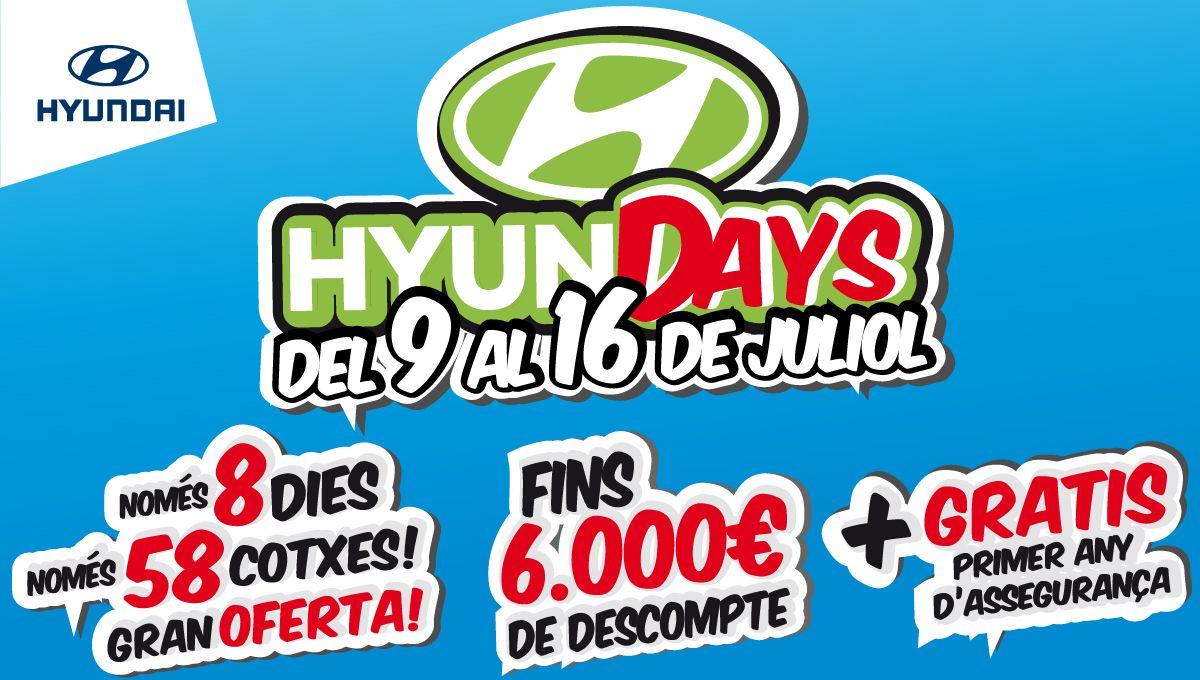 Tornen els 'HyunDAYS' a Augusta Car Hyundai. Només 8 dies, només 58 cotxes amb preus d'escàndol