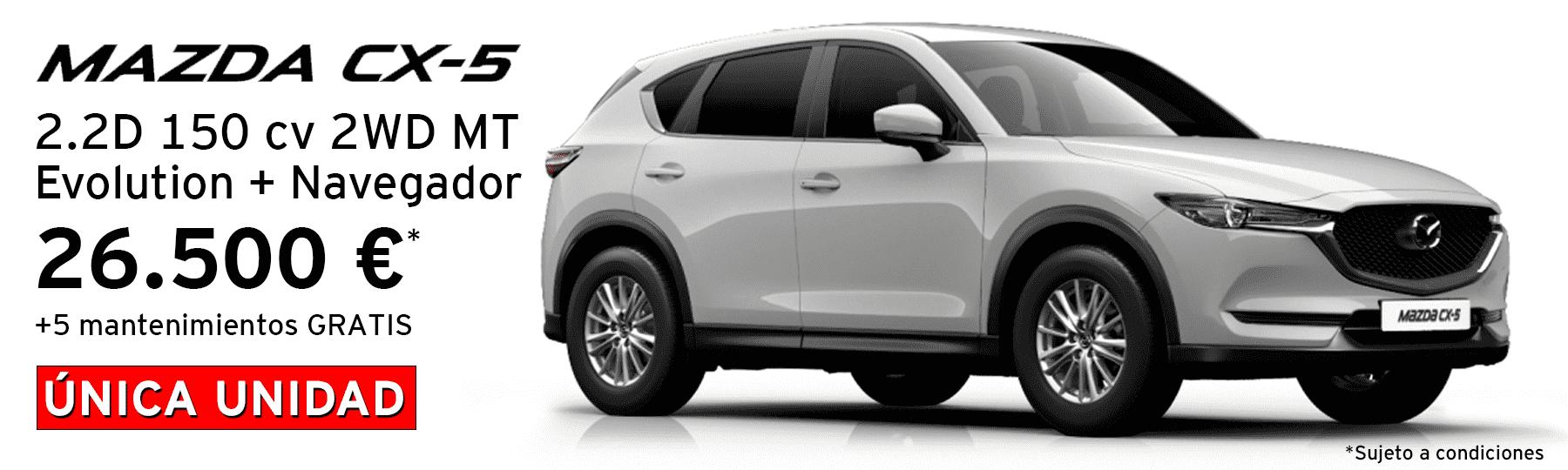Nuevo Mazda CX5 2.2d 150 cv 2WD MT Evolution + Navegador