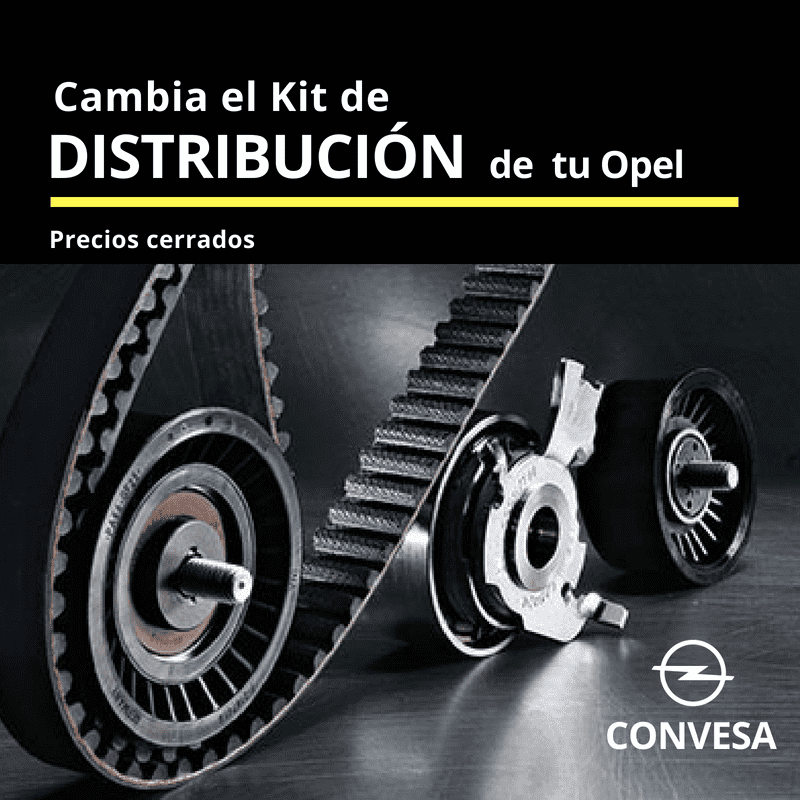 Hasta un 25%* de descuento en el kit de distribución de tu Opel y regalo seguro