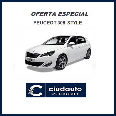 Peugeot 308 Style BlueHDi 100 S&S Blanco Banquise