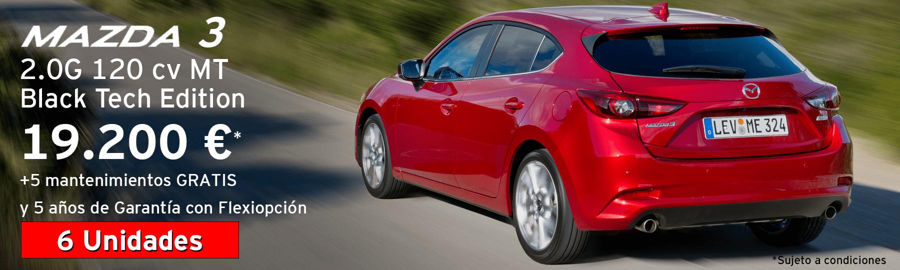 6 Uds. Mazda 3 2.0G 120cv Black Tech Edition