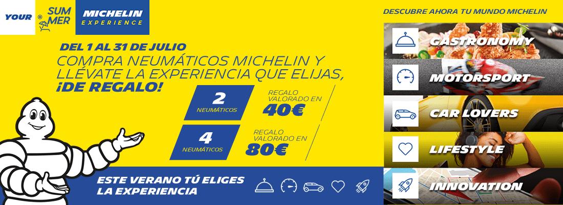 Hasta 80€ de descuento en Neumáticos Michelin