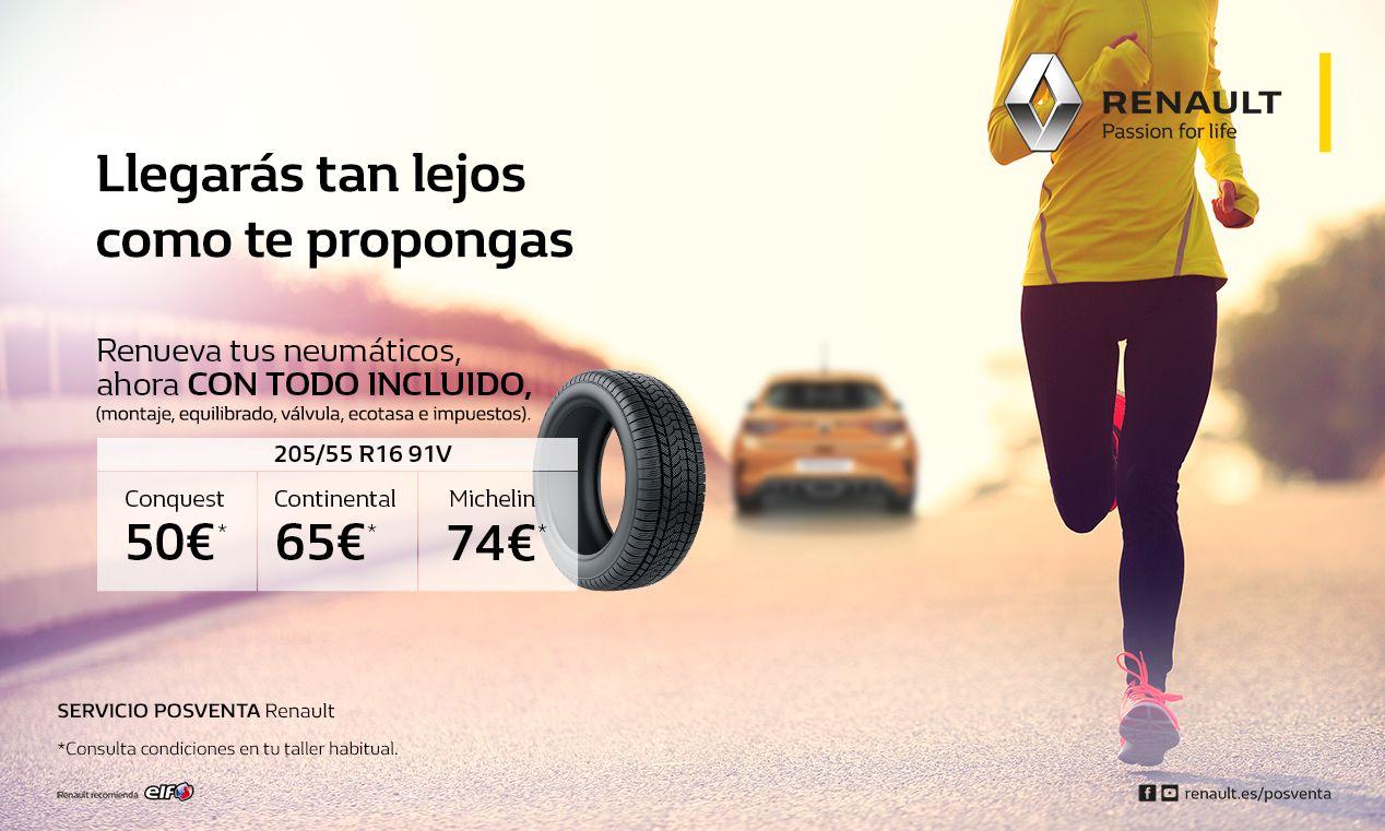 Promoción Renault. Renueva tus NEUMÁTICOS