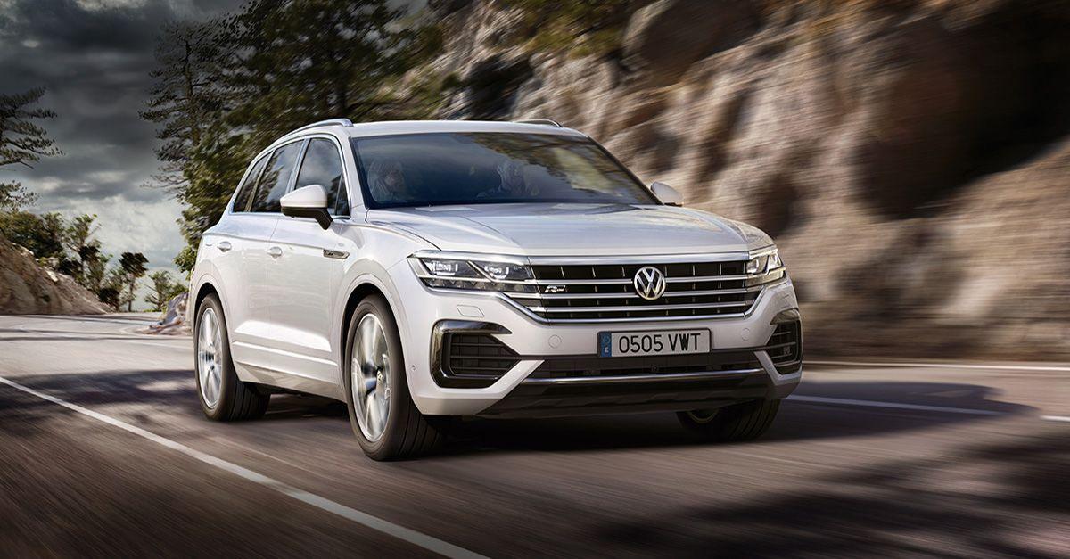 El último modelo de Volkswagen, Touareg. Expuesto en la nueva exposición de Ventas, en Huércal de Almería.