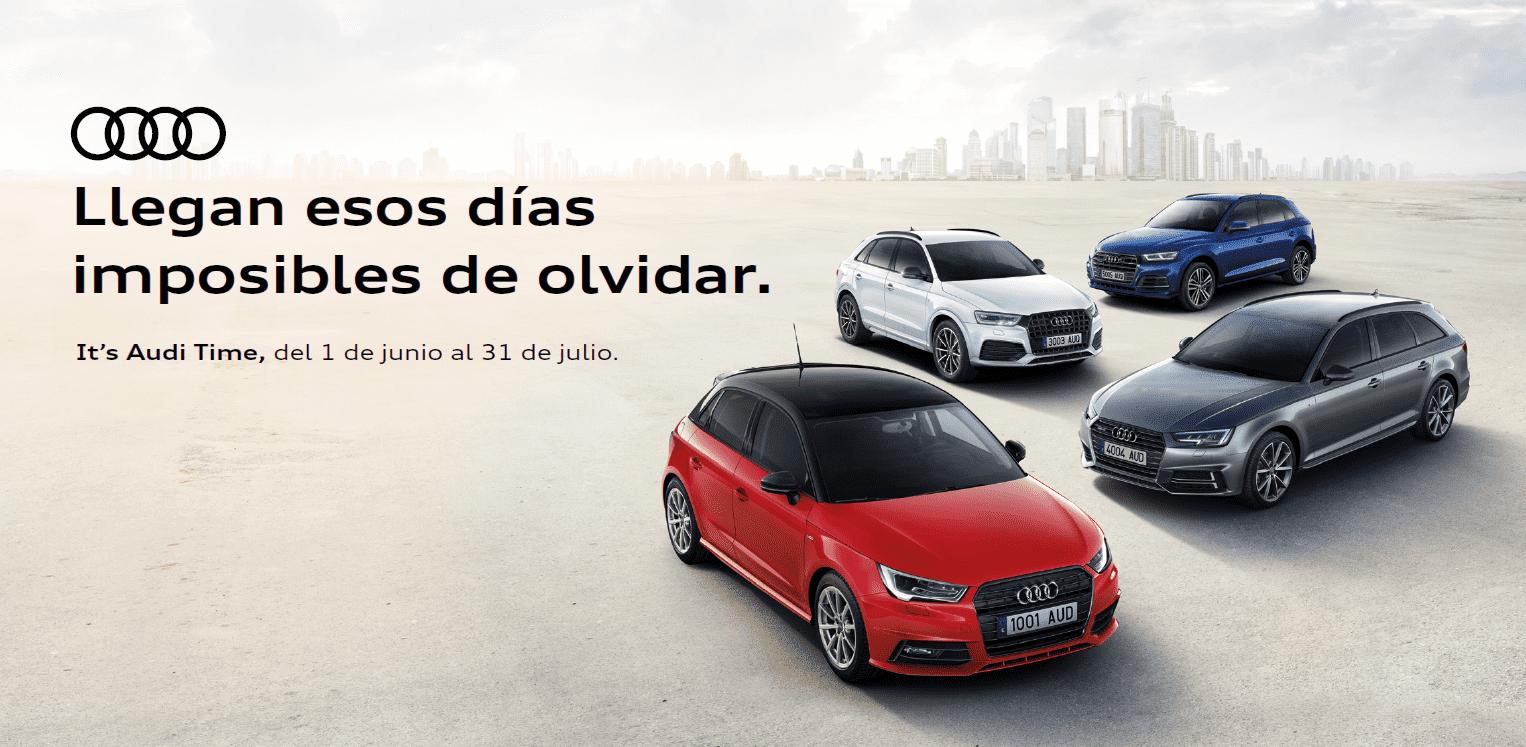 Llegan esos días imposibles de olvidar. It's Audi Time, del 1 de junio al 31 de julio.