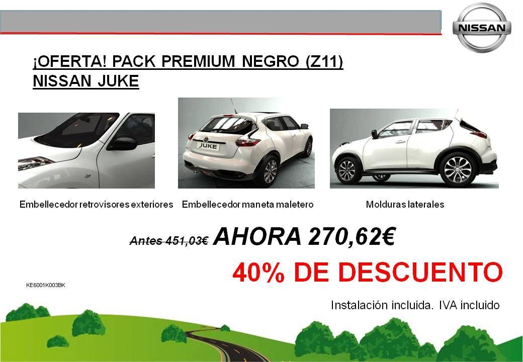 ¡OFERTA! PACK PREMIUM NEGRO (Z11) NISSAN JUKE - 270,62€
