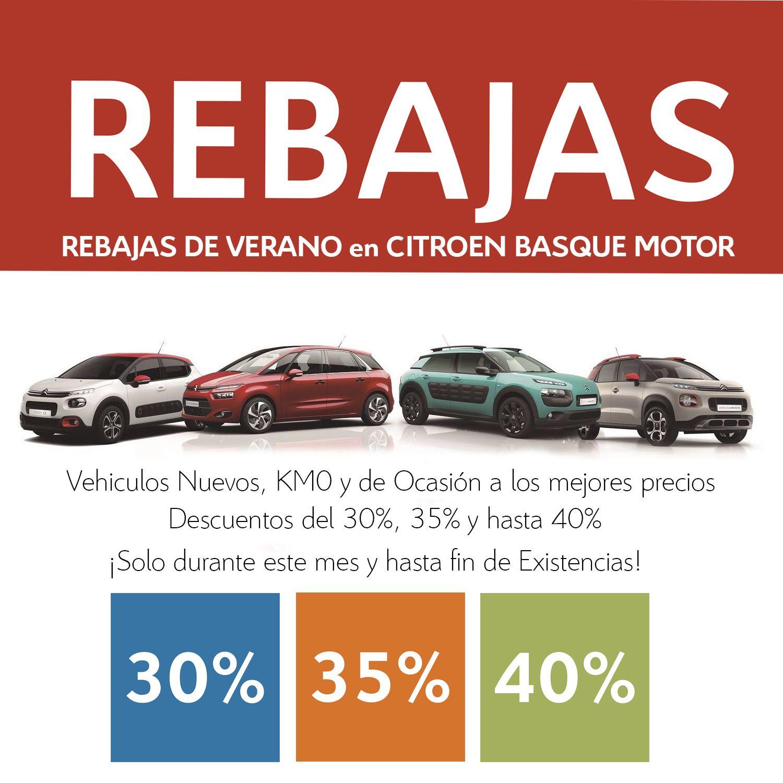 REBAJAS DE VERANO DE BASQUE MOTOR - DTOS. DEL 30%,35% Y HASTA 40%