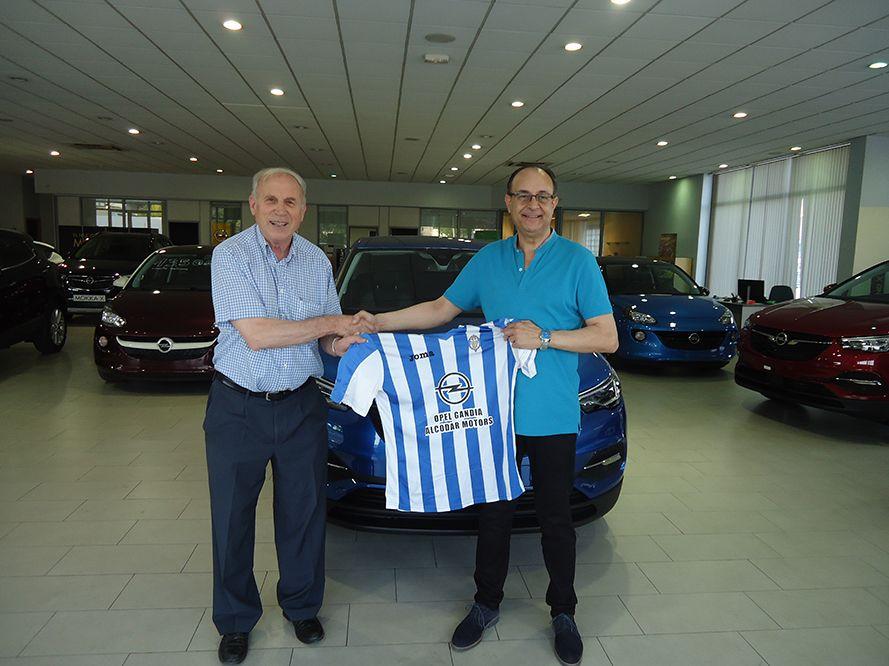 Opel Gandia - Alcodar Motors renueva una temporada más el patrocinio del CF Gandia