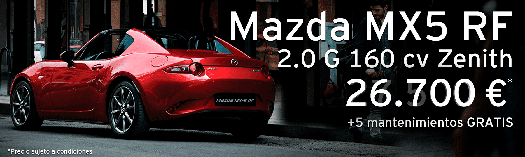Mazda MX5 RF 2.0 G de 160 cv Soul Red Crystal