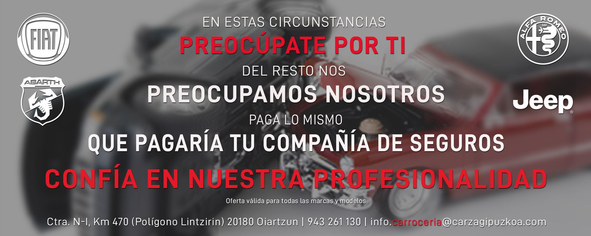 GRANDES DESCUENTOS EN TU CARROCERÍA OFICIAL GRUPO FCA