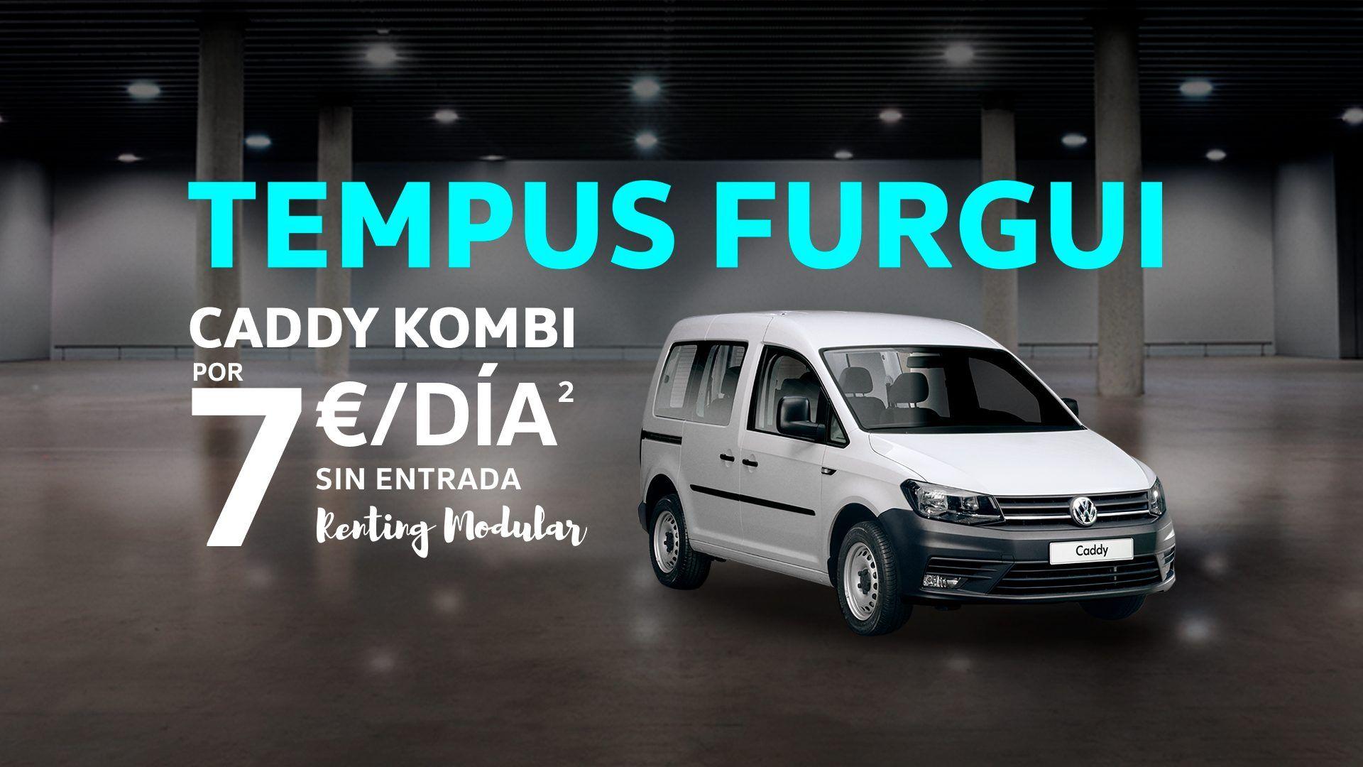 VW Caddy y VW Caddy profesional desde 7€ al día