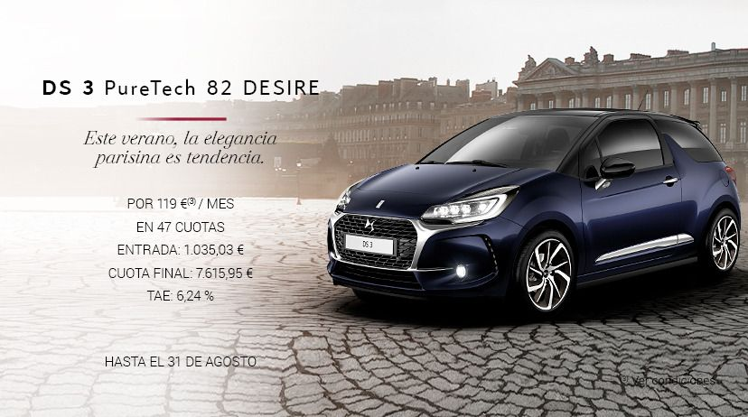 DS 3 Puretech 82 Desire POR 119 € AL MES