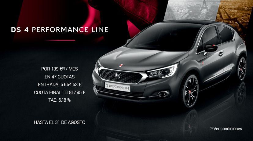 DS 4 PureTech 130 S&S 6V PERFORMANCE Line POR 139 € AL MES*