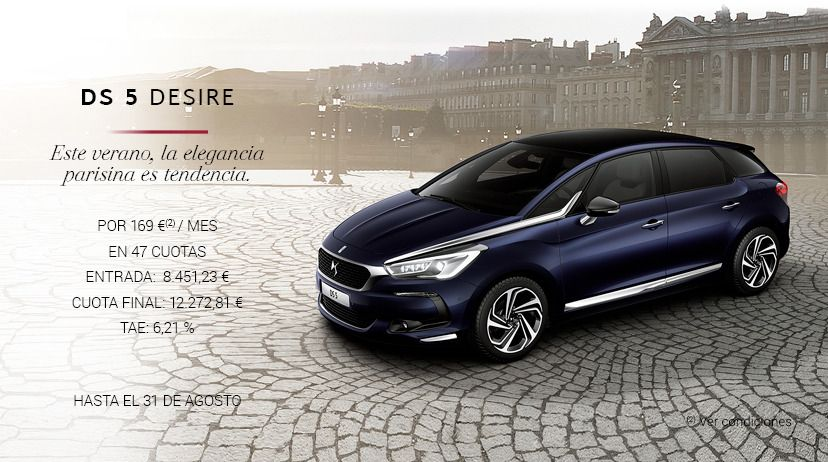 DS 5 BlueHDI 120 S&S 6v Desire POR 169 € AL MES*