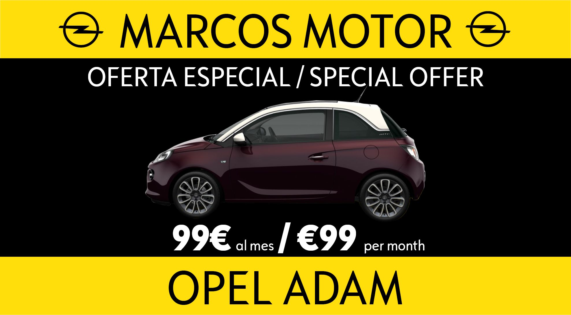 Opel Adam Offer €99 per month