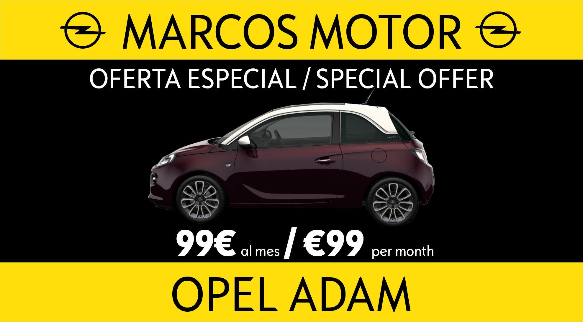 Oferta Opel Adam 99€ al mes