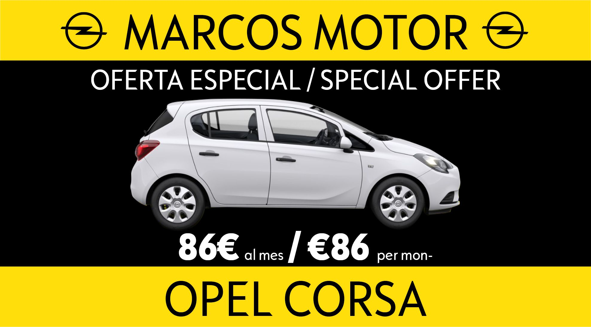 Opel Corsa Offer € 86 per month