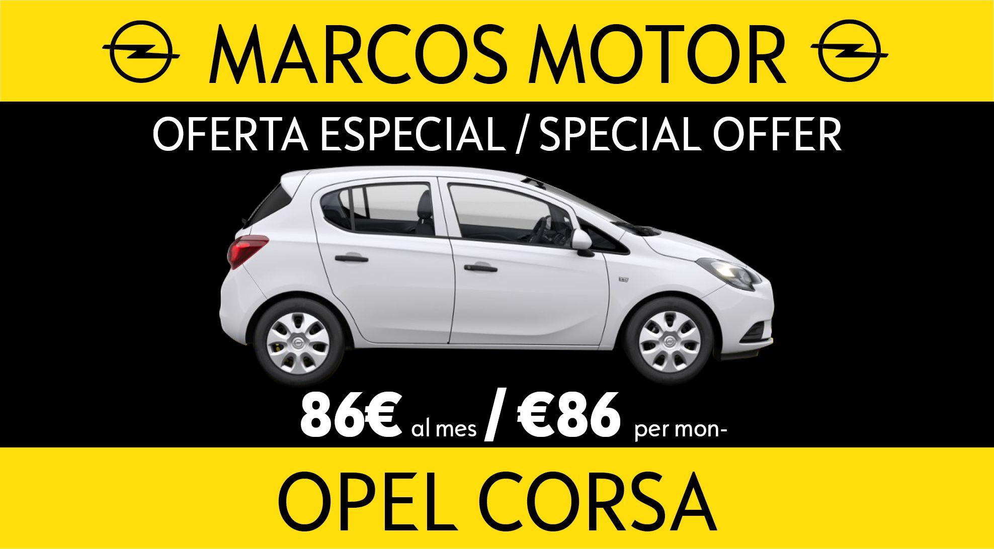 Oferta Opel Corsa 86€ al mes