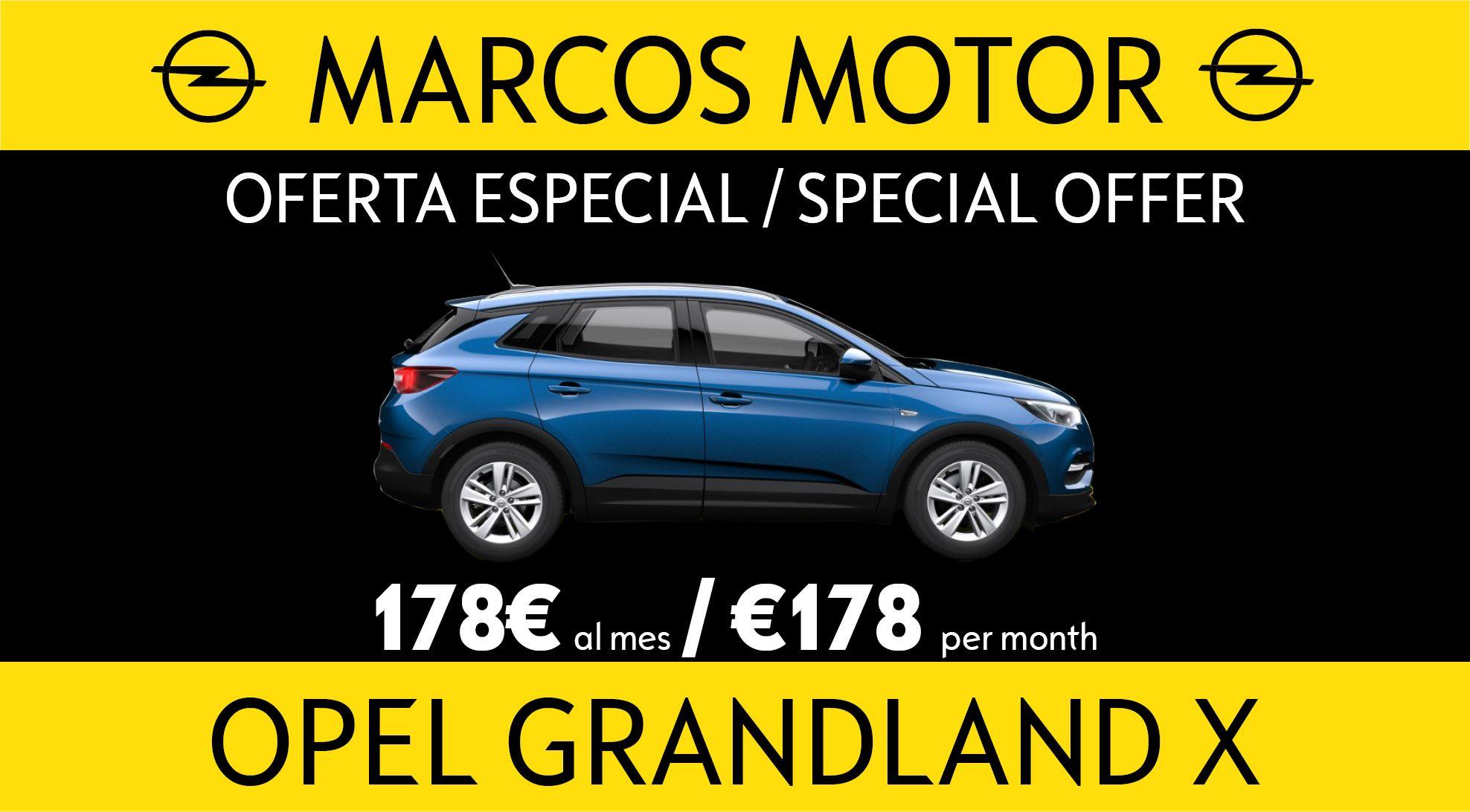 Oferta Opel Grandland X 178€ al mes
