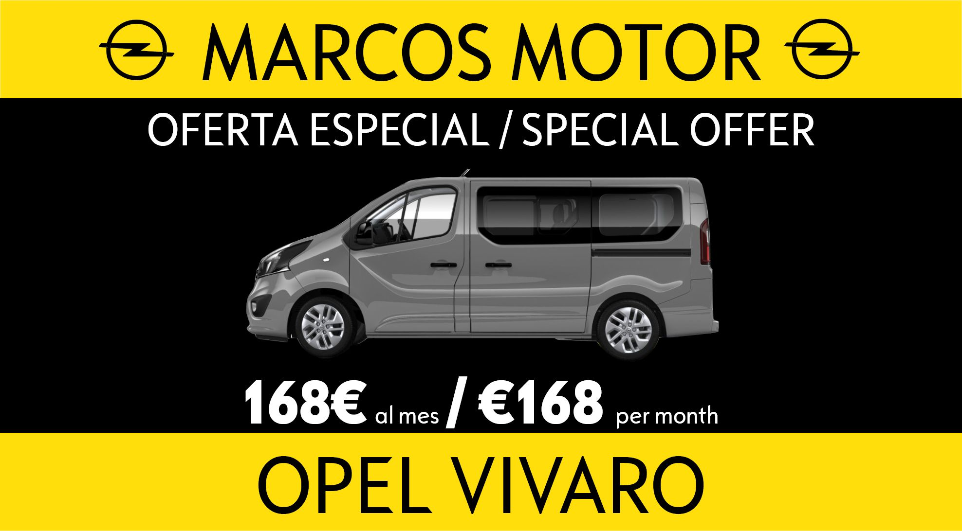 Opel Vivaro Offer €168 per month