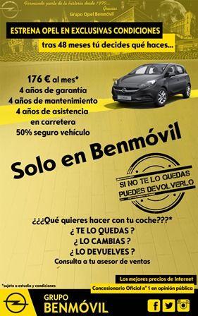 Opel Corsa con garantia de devolución, si no te gusta LO DEVUELVES!!!