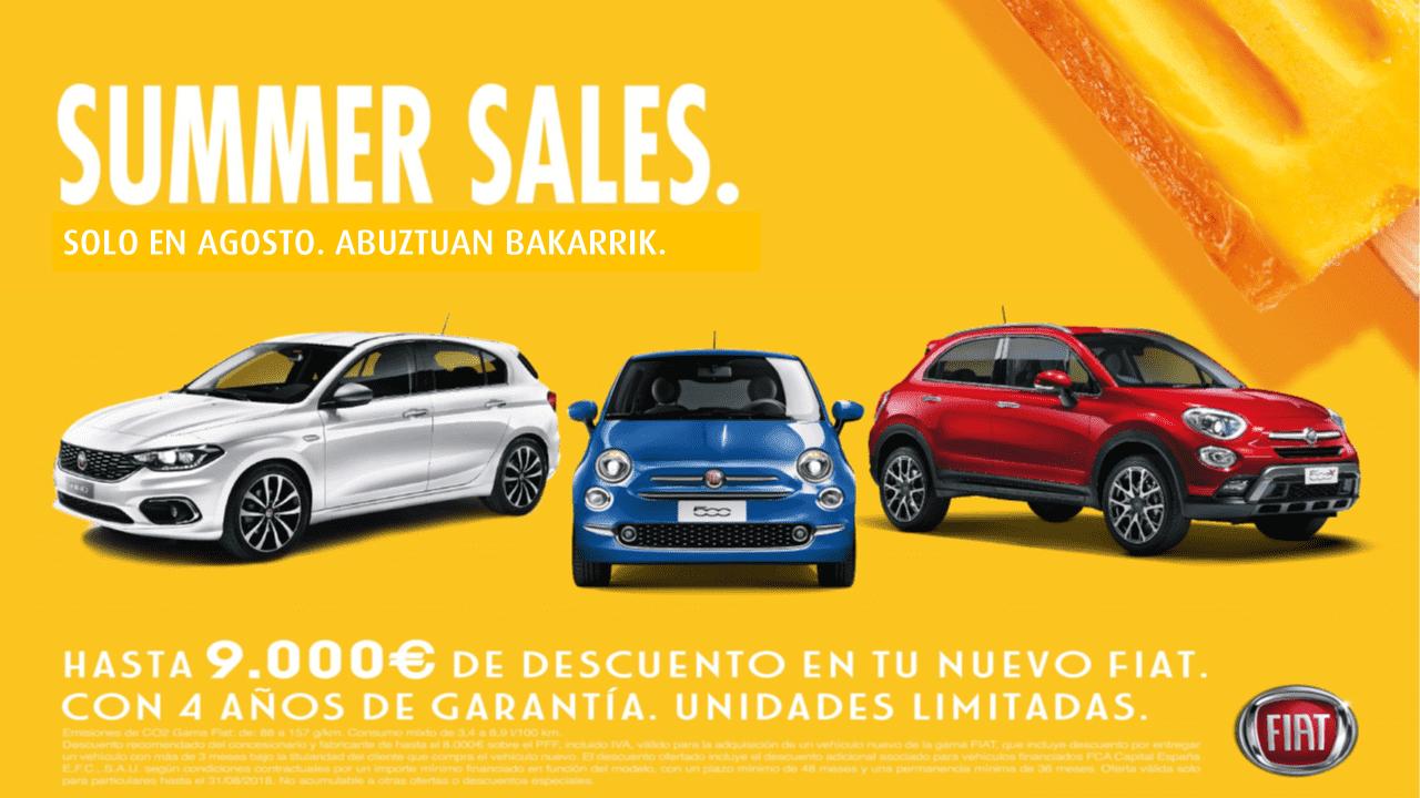 ¡Summer Sales en la gama Fiat!