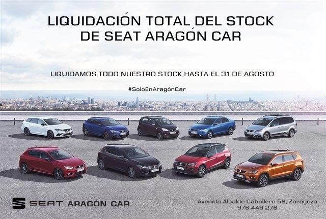 ¡¡HASTA EL 31 DE AGOSTO!! LIQUIDAMOS NUESTRO STOCK EN SEAT ARAGÓN CAR