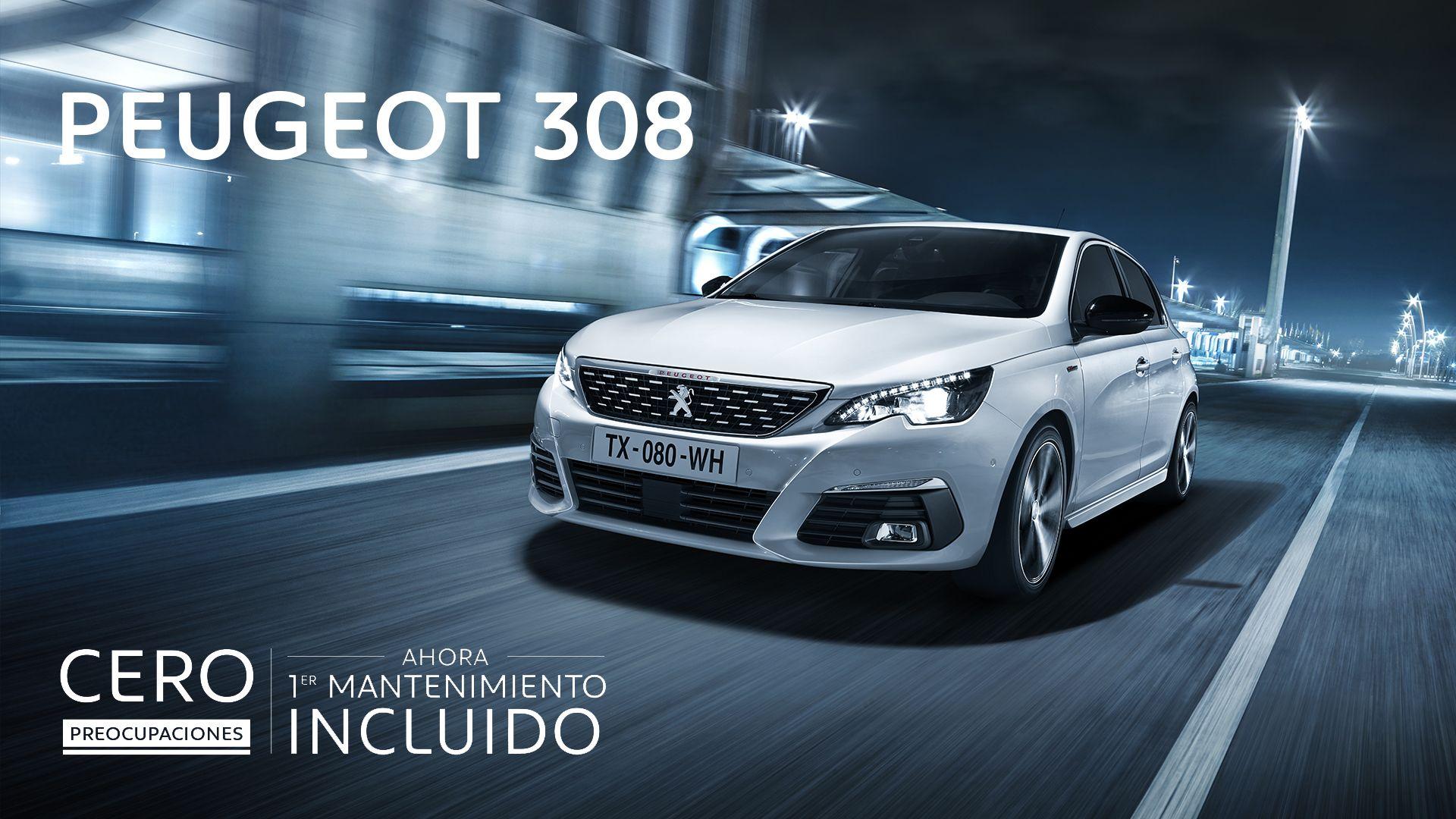 Conduce un Peugeot 308 por 150€/mes con mantenimiento gratuito