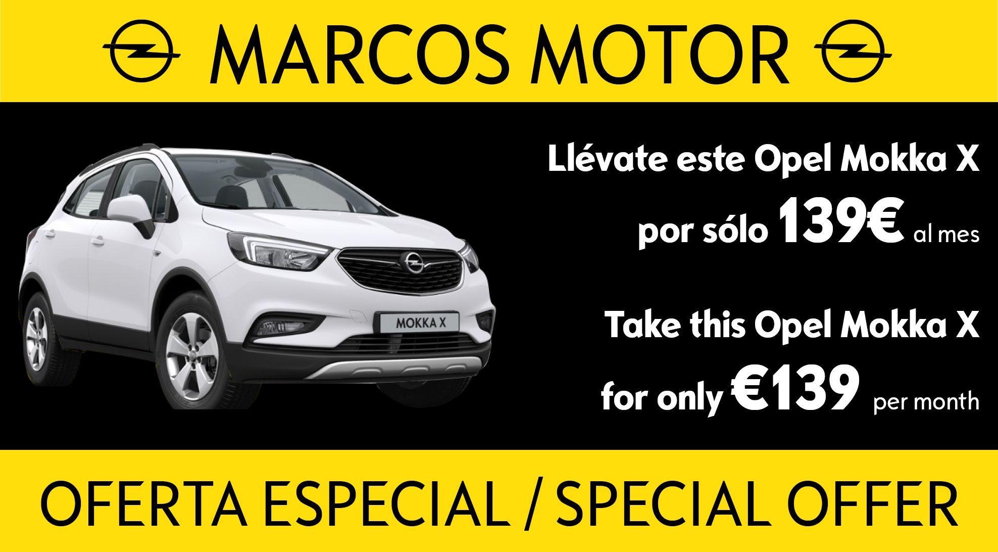 Oferta Opel Mokka X 139€ al mes