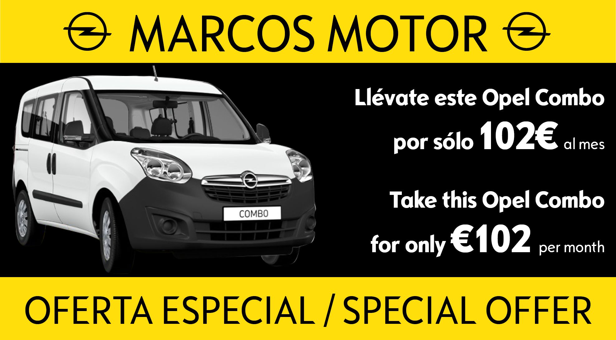 Opel Combo Offer €102 per month