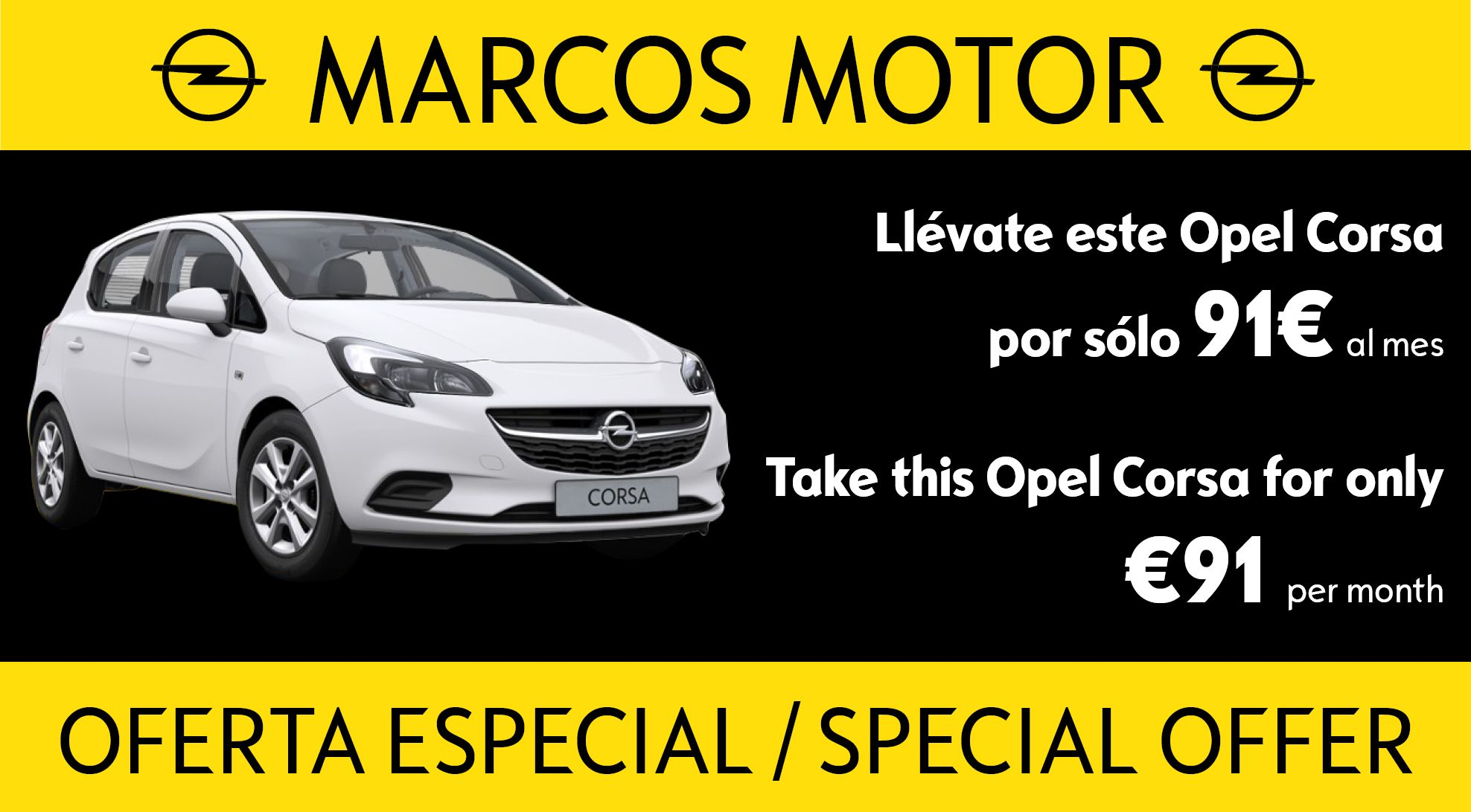 Opel Corsa Offer €91 per month