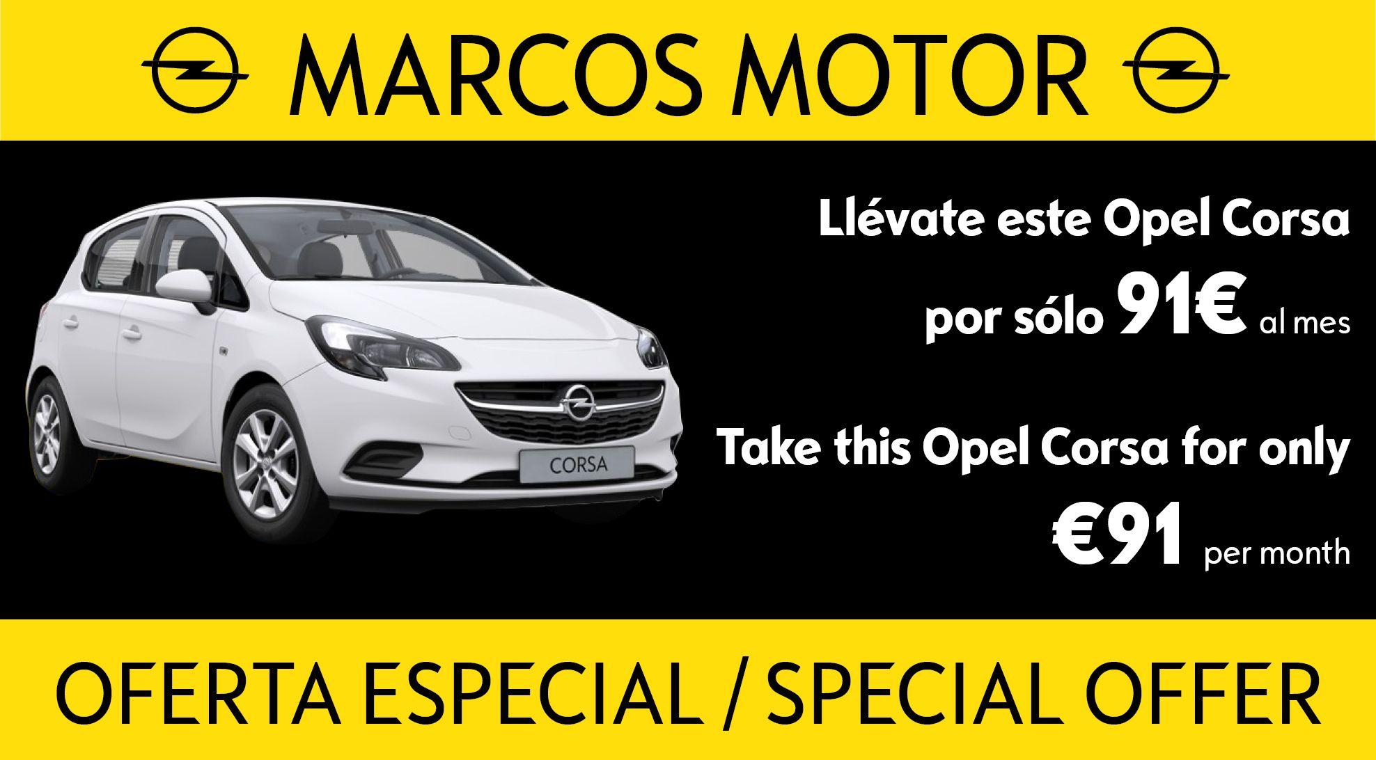 Oferta Opel Corsa 91€ al mes