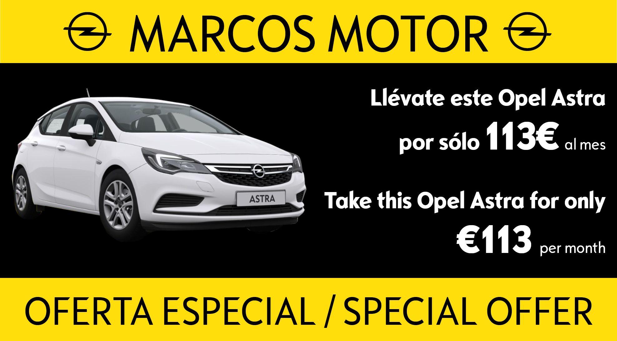 Oferta Opel Astra 113€ al mes