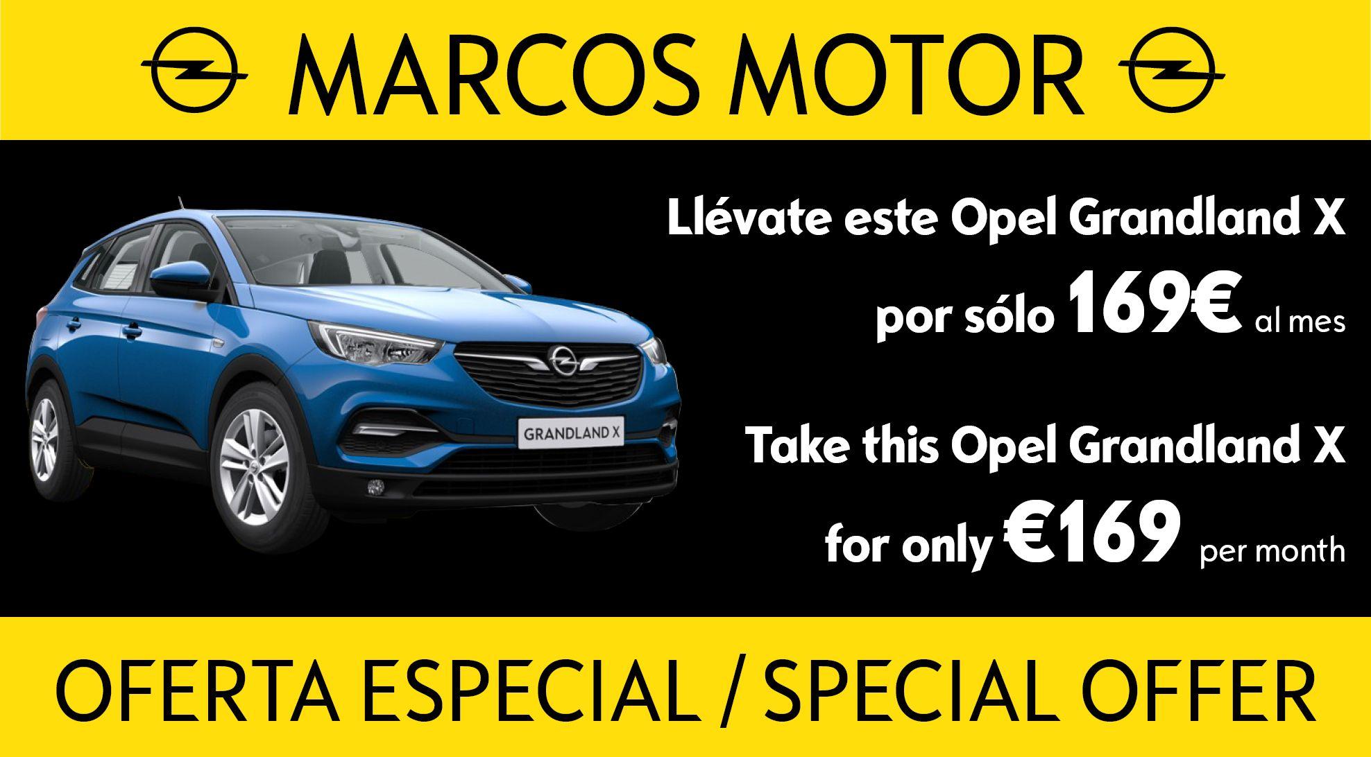 Oferta Opel Grandland X 169€ al mes