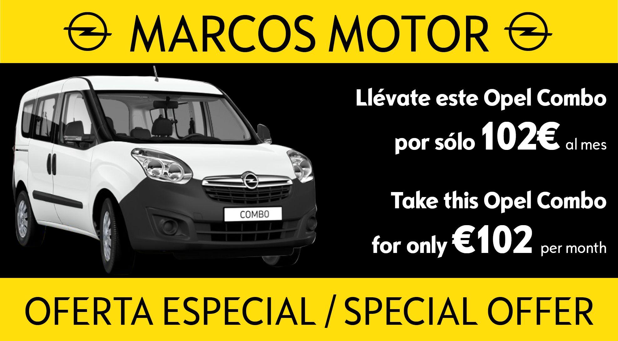 Oferta Opel Combo 102€ al mes