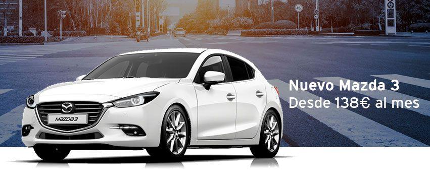 Nuevo Mazda 3 Desde 138€ al mes