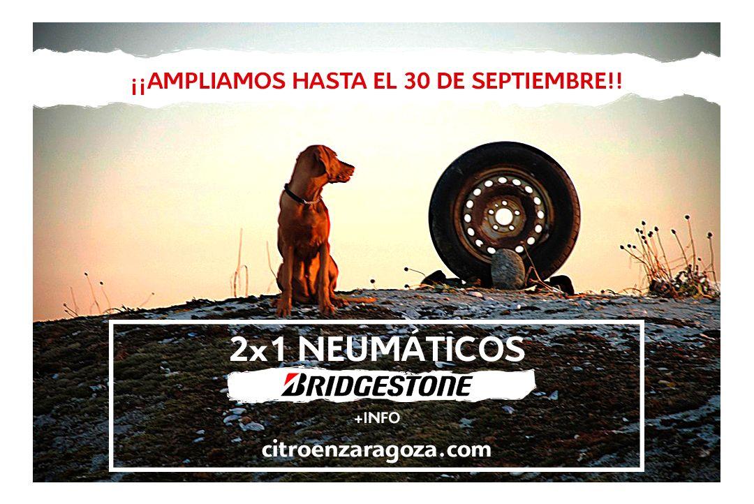 ¡Oferta 2x1 en neumáticos Bridgestone hasta el 30 de Septiembre!
