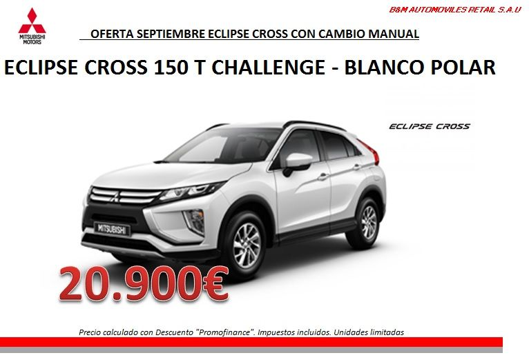 ECLIPSE CROSS 150T CHALLENGE POR SOLO 20.900€