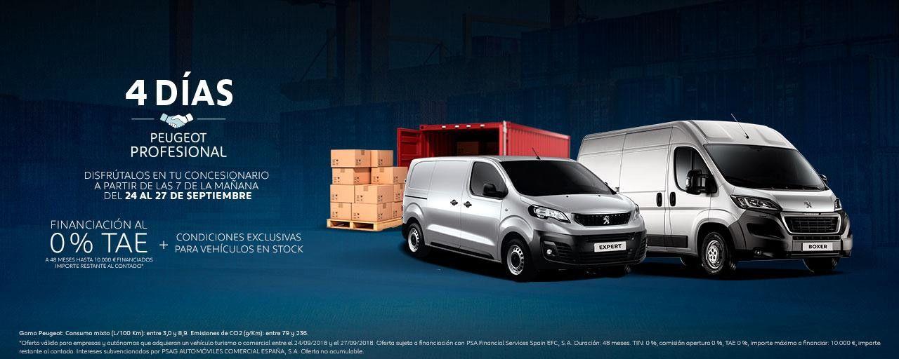 24-27 septiembre 4 Días Peugeot Profesional para encontrar a tu mejor socio