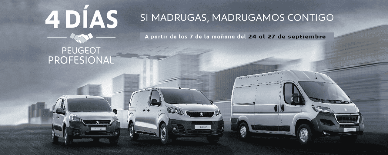 4 días Peugeot Profesional del 24 al 27 de Septiembre