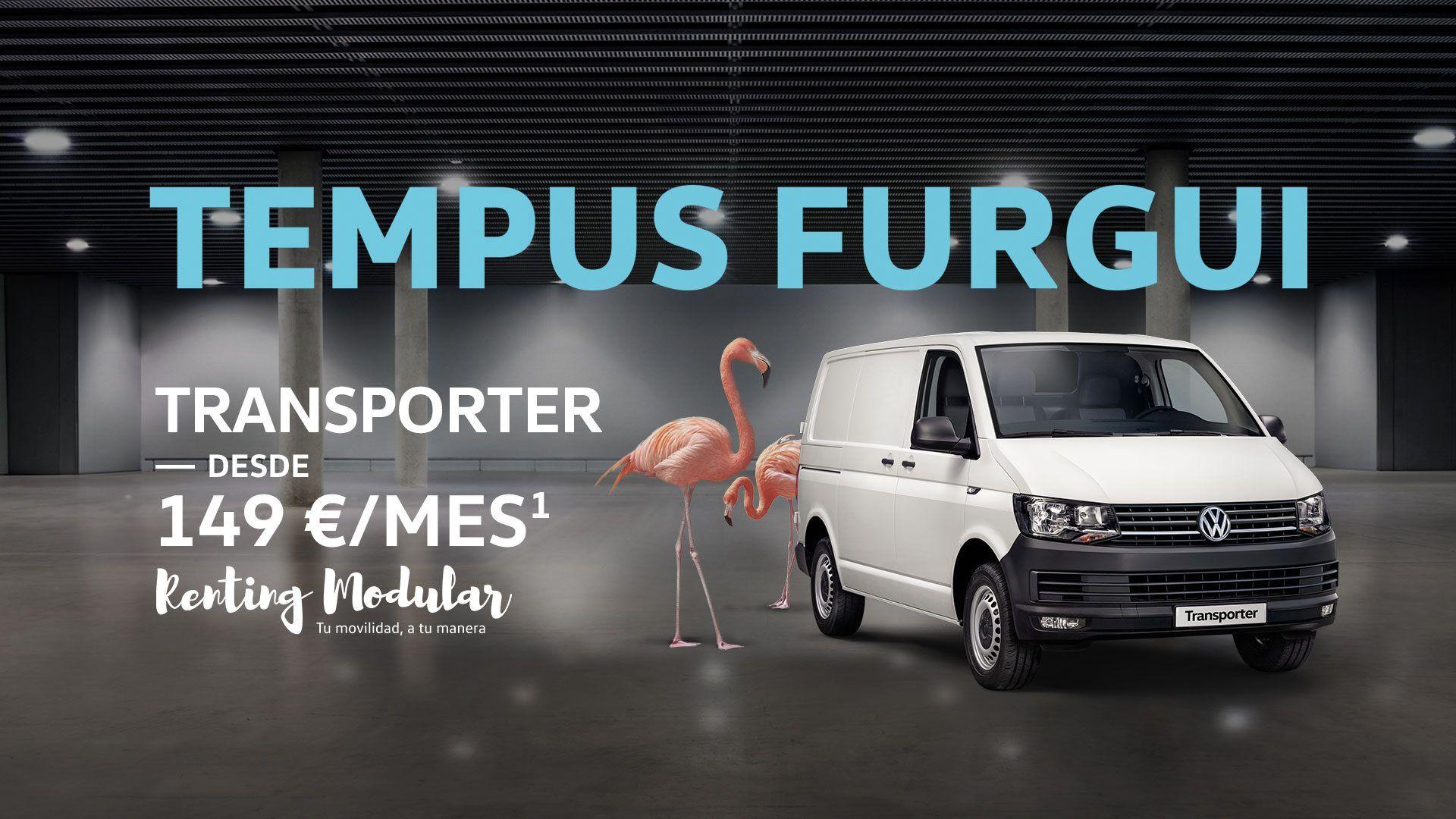 Transporter furgón desde 149€/Mes