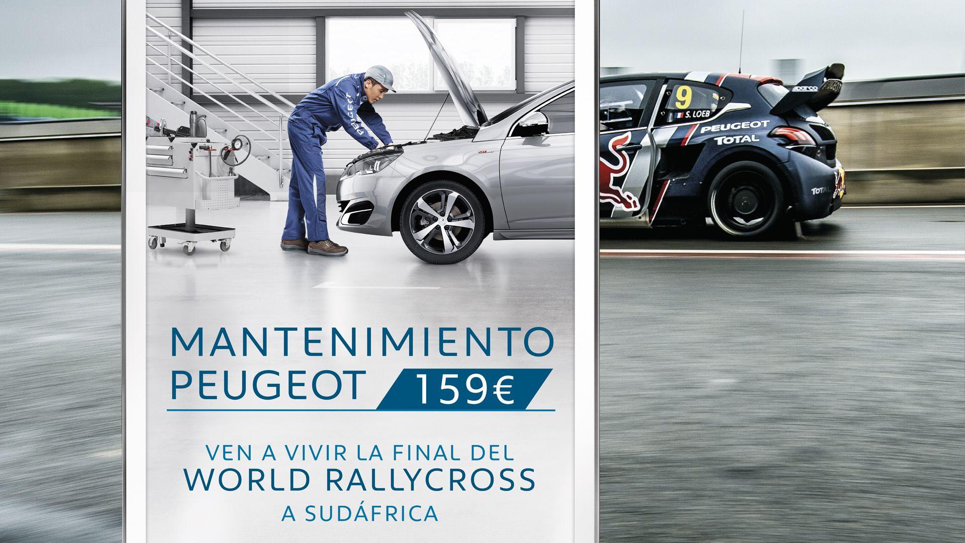 Realiza el mantenimento de tu Peugeot por sólo 159€ y viaja a Sudáfrica