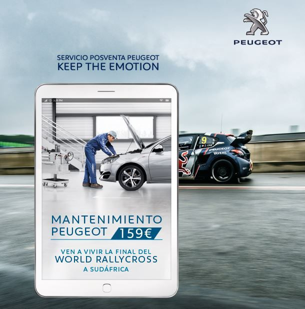 El mantenimiento Peugeot te lleva a la Final del Mundial de Rallycross en Sudáfrica