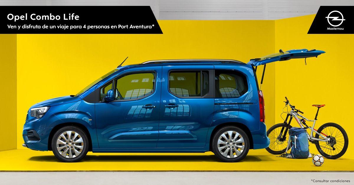 Descubre el Nuevo Opel Combo Life y gana un fin de semana para todos en Port Aventura